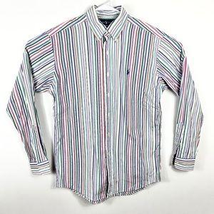 Ralph Lauren Mens Custom Fit Button Down Shirt M